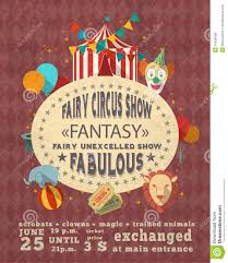 circus vintage advertisement poster stock vector image 41638408