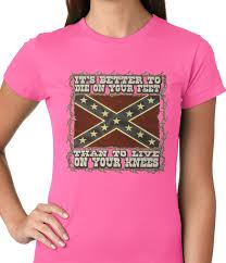 Flag Shirts Womens Die On Your Feet Rebel Flag Girls T Shirt