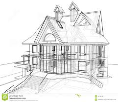 house technical draw royalty free stock photos image 4178438