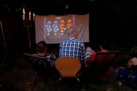 Backyard Movie Night Projector Outdoor Movie Night Diy Murphy Goode Winery