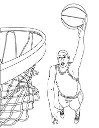 awesome printable basketball coloring pages with basketball