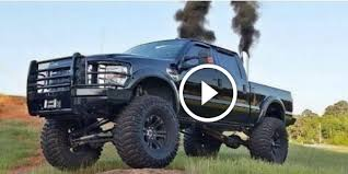 diesel jeep rollin coal 6 4 powerstroke compilation pure diesel sound and rolling coal