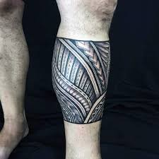 60 tribal leg tattoos for men cool cultural design ideas