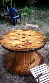 outdoor tables made out of wooden wire spools spools made out of tables san antonio texas 1 for 30 bucks buy 2
