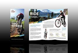 bike brochure front and back layout bike project pinterest