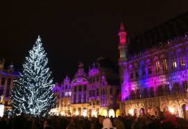brussels grand place sound and light show market world