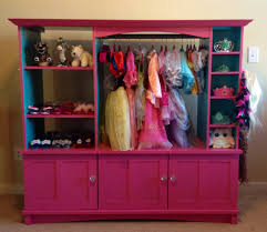 dress up closet made out of an old entertainment center abbey u0027s