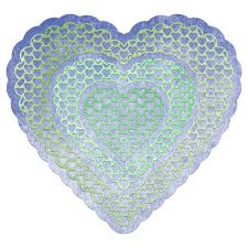 heart doily cheery designs heart to heart doily 4 die set dl106