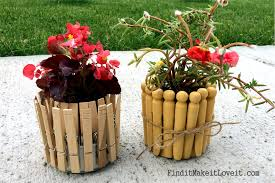 fun with potted plants sharpies paint clothespins tin cans