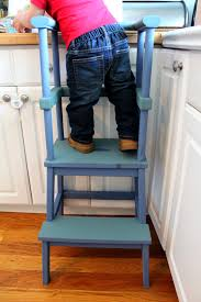 diy toddler stool kitchen helper ikea bekvam hack ikea hack