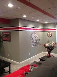 buckeyes man cave the front row ohio state pinterest