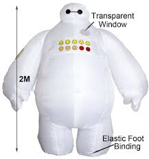 mascot halloween inflatable costume big hero 6 baymax party