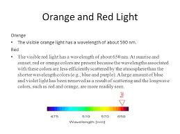 what is the wavelength of red light wavelength frequency of color s ppt video online download