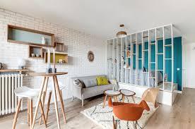 design attractor tiny studio apartment with retro and pastel decor