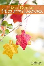 salt dough autumn leaves recipe
