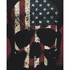 Anarchy Flag Mens Black Sons Of Anarchy Flag Skull Print T Shirt
