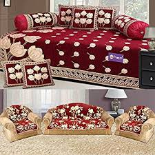 Washing Chenille Sofa Covers The Intellect Bazaar 450 Tc Chenille Sofa Cover And Diwan Set