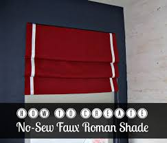 How To Sew A Flag The Easiest Faux Roman Shade Ever Inspiration For Moms