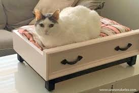 Cats In Dog Beds Diy Dog Bed With An Upcycled Drawer Look