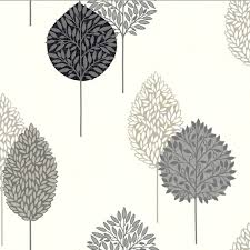 photo collection tree motif wallpaper