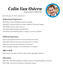 Pastoral Resume Samples With Background In Campaigns And Marketing Van Ostern Sets Sights