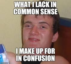 Common Sense Meme - 10 guy s self eval imgflip