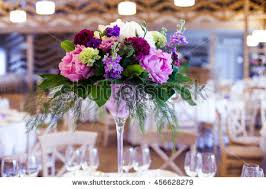 table decorations with candles and flowers wedding table decoration cupcakes flowers candles stock photo