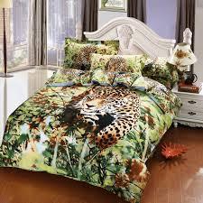 Cheetah Print Comforter Queen Aliexpress Com Buy Jungle Animal Cheetah Print 3d Bedding Set