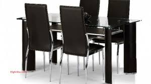 Black Glass Dining Table And 4 Chairs 4 Chair Glass Dining Table Awesome Impressive Dining Table 4