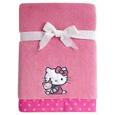kitty cute button coral fleece blanket target
