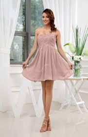 dusty rose informal sleeveless zip up short ruching party dresses
