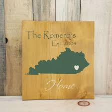state shaped gifts kentucky primitive state shaped family sign personalized state