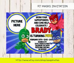 pj masks invitation pj mask invite super heros super hereos