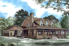 house plans with big porches sort of a log cabin look to this one pretty and it has my