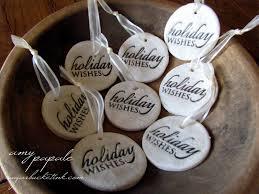 sugar ink salt dough ornaments rustic packaging