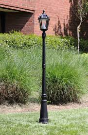gama sonic solar lights gama sonic royal 87 inch l post with 1 solar charged led lantern