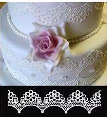 edible lace 10 premade edible scallop sugar lace ribbon wedding cakes