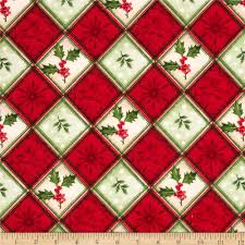christmas flannel holly berrys plaid red green discount designer