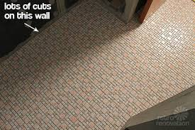 kate installs affordable retro bathroom floor tile retro