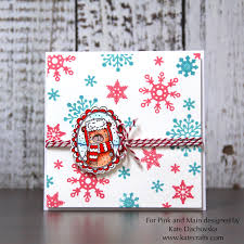 snowflake card by kate pink and