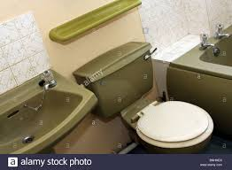 British Bathroom Avocado 1970 Bathroom Suite In A Typical British Home Built In The