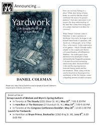 What Is An Urban Garden Book Launch Yardwork A Biography Of An Urban Place By Daniel