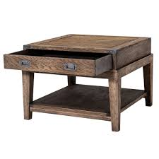 Kids Wood Desks by Eichholtz Military Side Table Smoked Oak Houseology