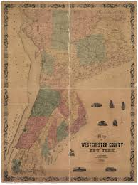 Westchester County Map Map Of Westchester County Ny 1858