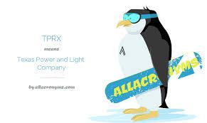 texas power and light company tprx abbreviation stands for texas power and light company