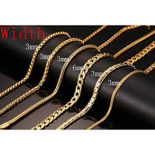 gold metal chain necklace images 18k gold plated chain necklace for men women stainless steel snake jpeg