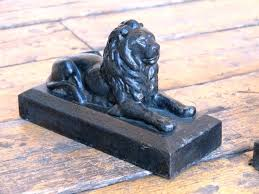 unique bookends for sale pair of cast iron lion door stops or bookends metal