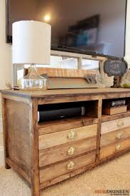 Diy Console Table Plans Remodelaholic Build A Farmhouse Style Tv Console Sideboard