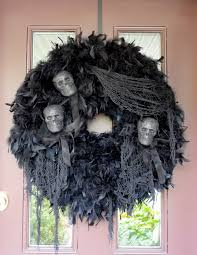 Scary Outdoor Halloween Decorations by Ideas Very Enchanting Halloween Wreath Ideas For Your Home Decor