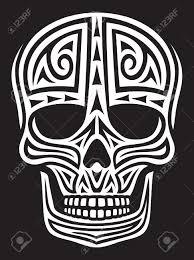 skull ornament skull in style skull tribal skull
